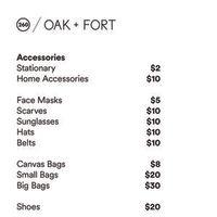 Oak + Fort Sample Sale