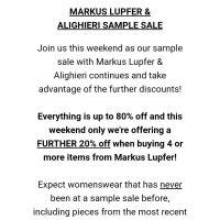 Markus Lupfer & Alighieri Sample Sale